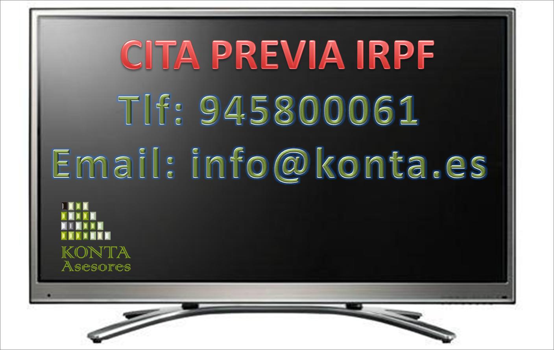 KONTA ASESORES. Cita previa 945800061 declaración renta IRPF 2015