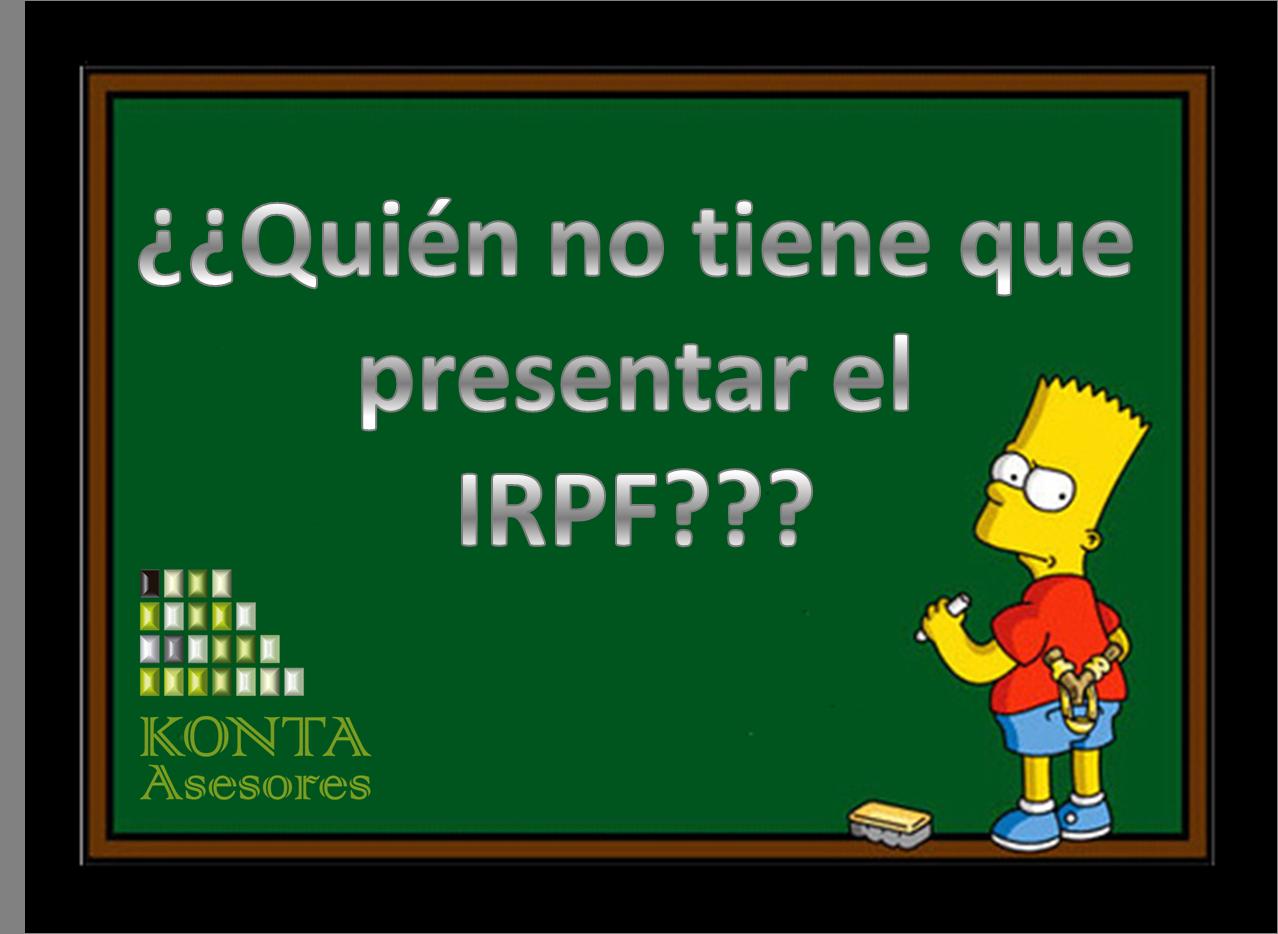 No obligacion de hacer la declaración de la renta IRPF 2013 en Alava