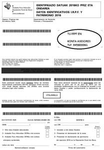 Etiqueta Alava Renta IRPF Declaracion Vitoria