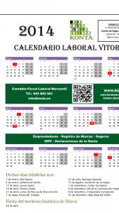 Calendario Laboral Vitoria Gasteiz 2014