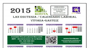 Calendario laboral Vitoria Gasteiz Alava 2015 v3