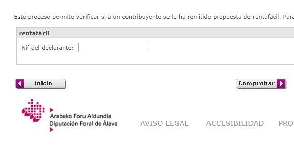 Borrador declaración de la renta IRPF en Vitoria Gasteiz Alava Comprobar